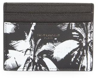 Saint Laurent Palm Leather Credit Card Case