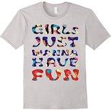 Women's Girls Just Wanna Have Fun CATS T-Shirt Medium