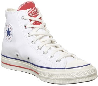 Converse Hi 70s Trainers White University Red Egret Twisted Tongue
