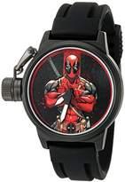 Marvel Men's 'Deadpool' Quartz Metal and Rubber Watch