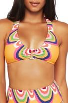Trina Turk Rainbow Swirl Halter Bikini Top