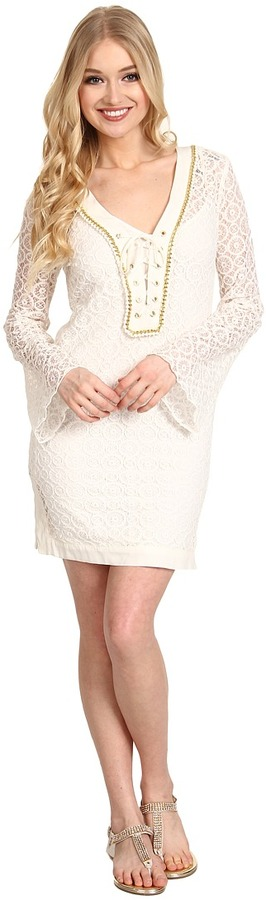 Hale Bob Lacy Afternoon Crochet Dress (Ivory) - Apparel