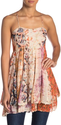 Raga Kate Floral Stripe Babydoll Tank Dress