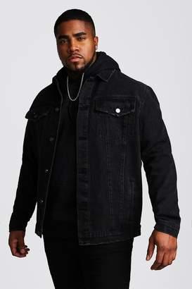 boohoo Big And Tall Denim Western Jacket