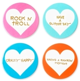 Betsey Johnson xox Trolls 4-Pc. Coaster Set