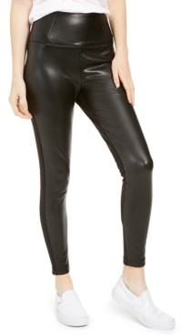 Tinseltown Love, Fire Juniors' Topson Faux-Leather Leggings with Ponte-Knit Back