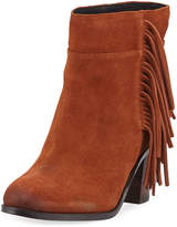 Kenneth Cole Alana Suede Fringe Ankle Booties