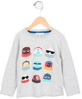Little Marc Jacobs Boys' Cap Print Long Sleeve Top