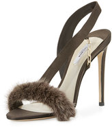 Olgana Paris L'Amazone Mink Fur Sandal, Brown