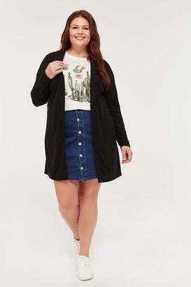 Ardene Plus Size Lace Back Cardigan