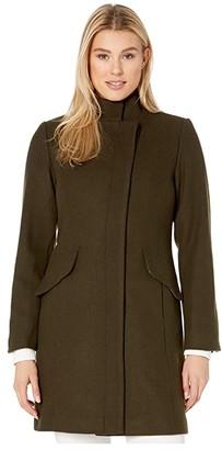 Vince Camuto Wool Coat V29760 (Loden) Women's Coat