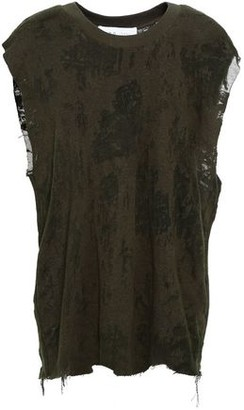 IRO Distressed Cotton-blend Top