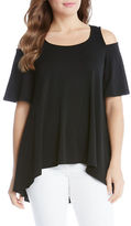 Karen Kane Cold Shoulder Swing Top