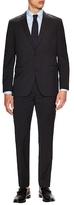 Wool Sharkskin Notch Lapel Suit