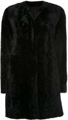 Drome Round Neck Mid-Length Coat
