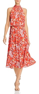 Adrianna Papell Tea Time Floral Print Midi Dress