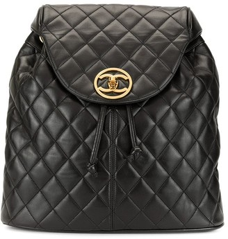 Chanel Pre Owned 1992's quilted CC chain backpack bag