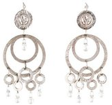 Loree Rodkin Diamond & Colorless Sapphire Briolette Earrings