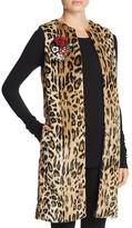 Alice + Olivia Jade Faux Fur Leopard Vest