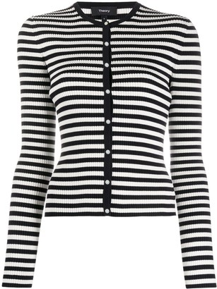 Theory Striped Knitted Cardigan
