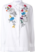 Ermanno Scervino floral embroidered shirt - women - Silk/Cotton/Acrylic/Wool - 40