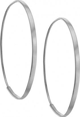 Lana Small Flat Oval Hoop Earrings
