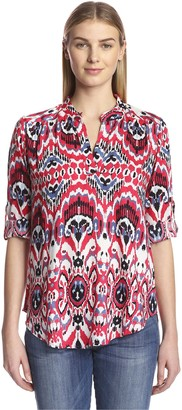 James & Erin Women's Peasant Top