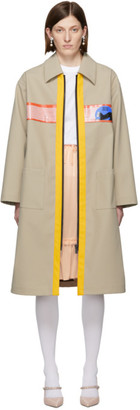Miu Miu Beige Coated Mac Coat