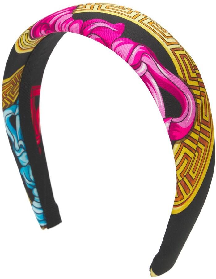 Thumbnail for your product : Versace Medusa Print Twill Headband