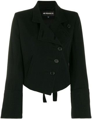 Ann Demeulemeester Asymmetric Fitted Jacket