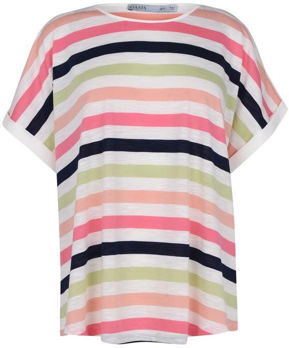 Oasis Curve Rainbow Stripe Tee
