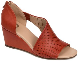 Brinley Co. Womens Perforated D'orsay Wedge