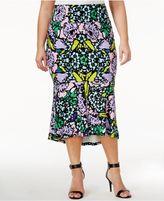 Melissa McCarthy Trendy Plus Size Floral-Print Mermaid Skirt