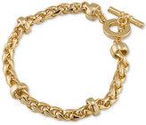 Lauren Ralph Lauren Gold-Tone Heavy Chain Toggle Bracelet