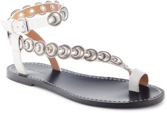 Isabel Marant Ermony Asymmetrical Ankle Strap Flat
