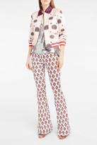 Giamba Flower-Print Flared Trousers