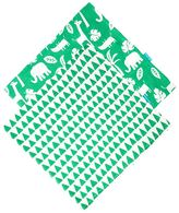 Toby Tiger 2 Pack Green Jungle Print Muslins