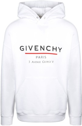 Givenchy Label Print Hoodie