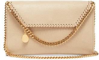 Stella McCartney Falabella Mini Faux-leather Cross-body Bag - Womens - Beige