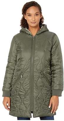 Tribal Reversible Zip Front Coat (Cypress) Women's Clothing