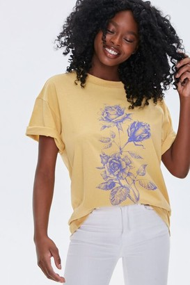 Forever 21 Floral Graphic Tee