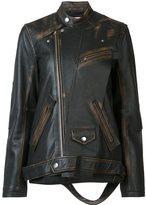 Miharayasuhiro oversized leather jacket