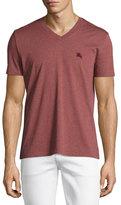 Burberry Lindon V-Neck T-Shirt, Red