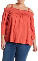 Jessica Simpson Marlena Cold Shoulder Shirt (Plus Size)
