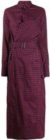 A.F.Vandevorst belted check maxi shirt dress