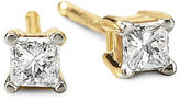 JCPenney FINE JEWELRY 1/5 CT. T.W. Princess Diamond Studs 14K Yellow Gold