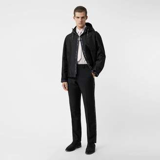 Burberry Classic Fit Logo Detail Wool Mohair Tailored Trousers