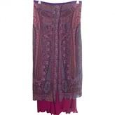 Etro Purple Silk Skirt for Women