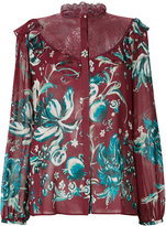 Roberto Cavalli floral embroidered blouse - women - Silk/Cotton/Polyamide - 42