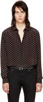 Saint Laurent Black 'Bouche' Shirt